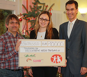 10000 Euro für krebskranke Kinder