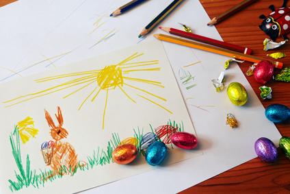 Kindermalwettbewerb vor Ostern