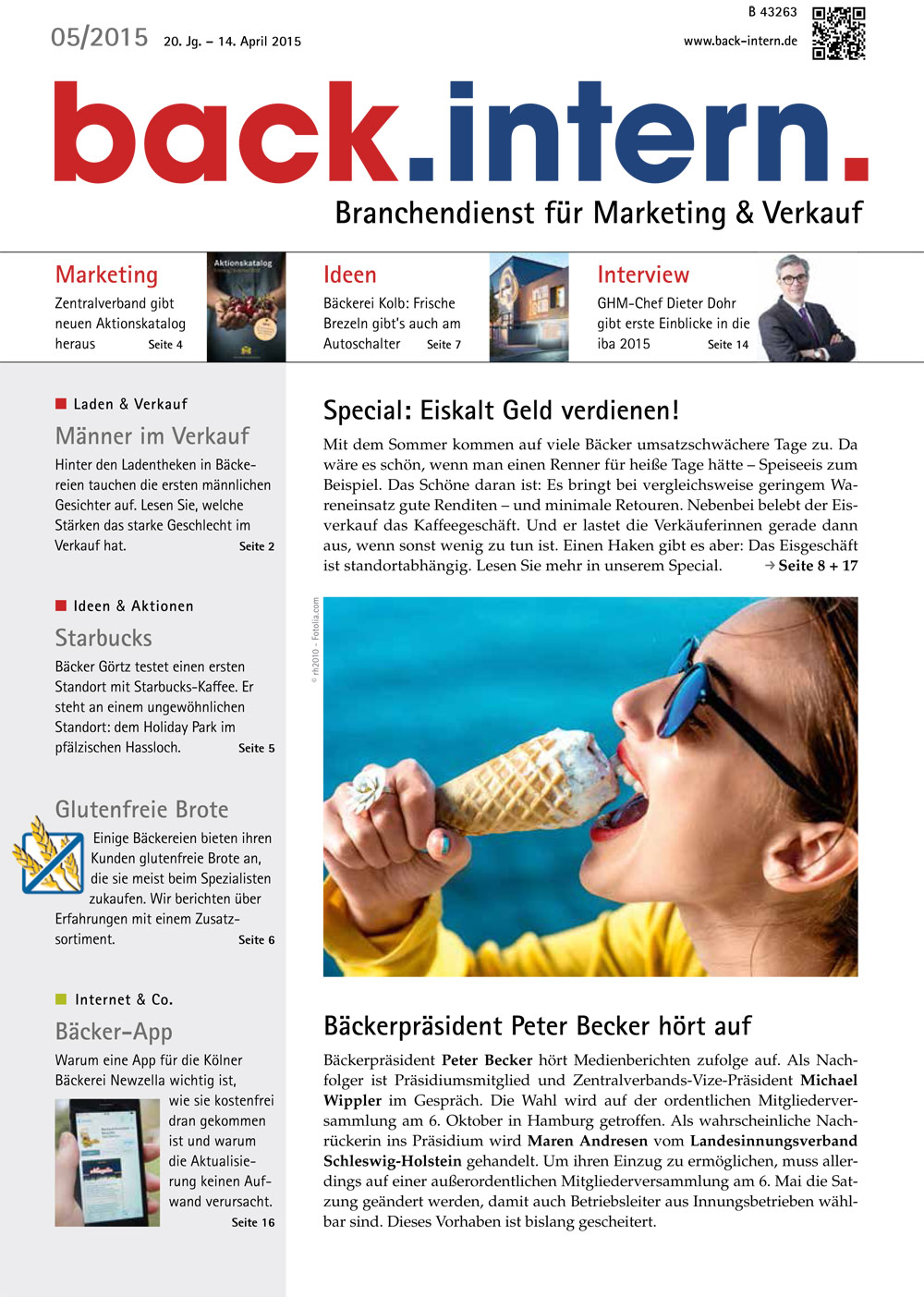 back.intern. 2015 Ausgabe 05