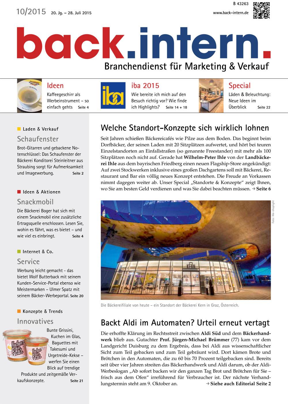 back.intern. 2015 Ausgabe 10