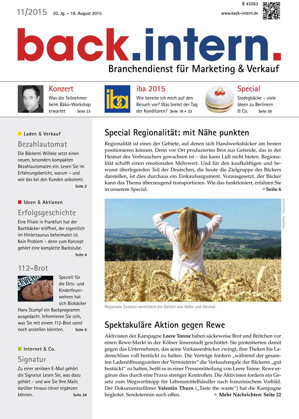 back.intern. 2015 Ausgabe 11