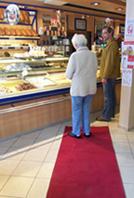Roter Teppich für die Kunden