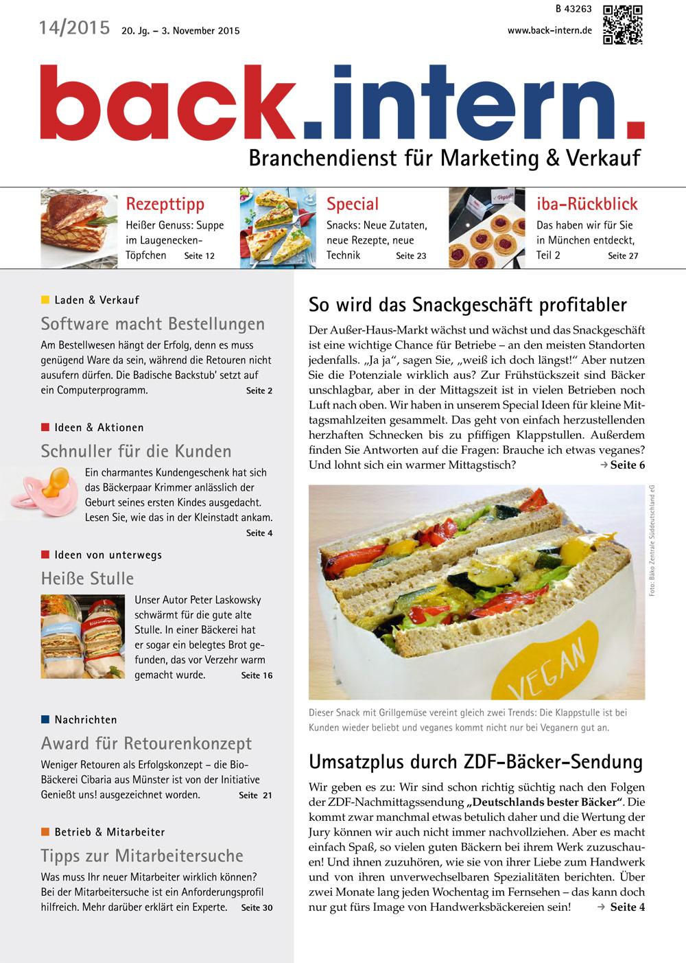 back.intern. 2015 Ausgabe 14