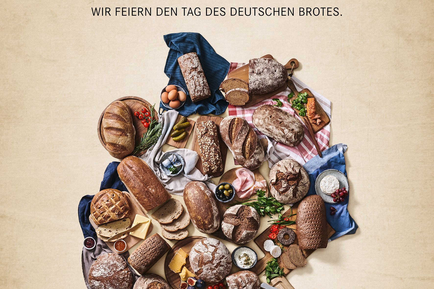 Nationalmannschaft verschenkt Brot