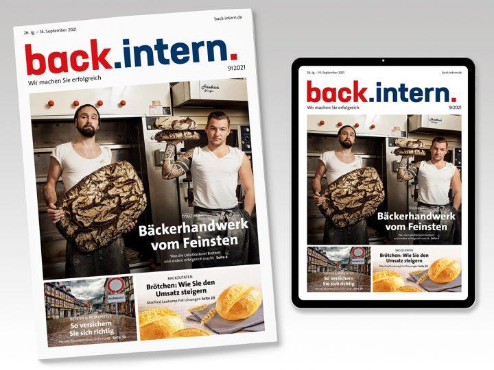 back.intern. 9/2021 – jetzt als ePaper herunterladen